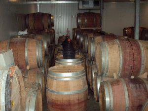 Tzuba Winery Barrel Room