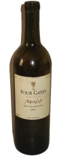 Roasted almond breaded chicken (a great fried chicken substitute) and 2003 Four Gates Merlot