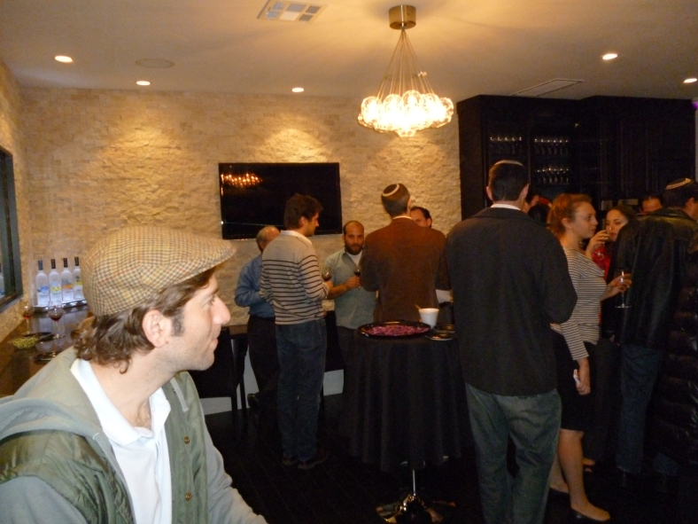 Kosher wine tasting at the Cask in LA (Jurgen from Capcanes, Shimon Weiss from Shirah Wines and Gary Landsman)