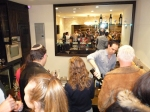 Kosher wine tasting at the Cask in LA - Michael Bernstein Pouring
