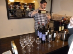 Pouring wine at the tasting in Cask LA