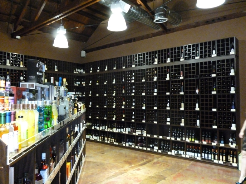 Shelves of wine in Cask LA - 2
