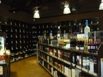 Shelves of alcohol in Cask LA