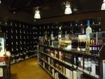 Shelves of alcohol in Cask LA