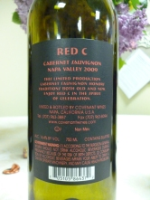 2009 Covenant Red C Cabernet Sauvignon - back label