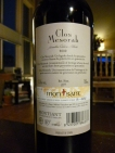 2009 Elvi Wines Clos Mesorah - back label