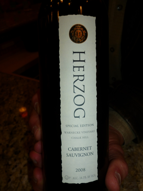 2008 Herzog Cabernet Sauvignon, Special Edition, Warnecke Vineyard, Chalk Hill