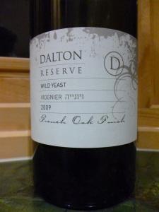 2009 Dalton Viognier, reserve, wild yeast_