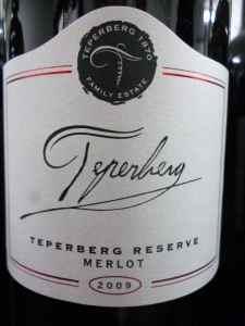 2009 Teperberg Merlot, reserve-small
