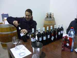 Eran Goldwasser opening the wines we enjoyed at Yatir Winery-small