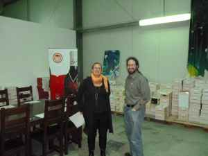 Ettie and Doron at Yatir Winery-small