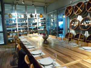 Gush Etzion tasting room and tasting table