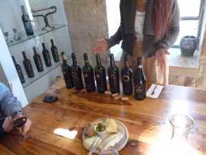 Wine and cheeses enjoyed at Psagot Winery-small
