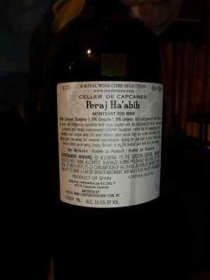 2008 Capcanes Peeraj Habib, Magnum - back label