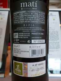 2010 Elvi Wines Mati - back label_