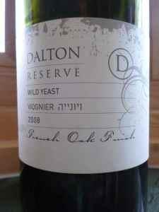 2008 Dalton Viognier, Wild Yeast, Reserve