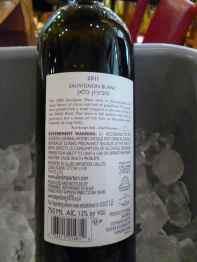 2011 Teperberg Sauvignon Blanc, Terra - back label-