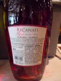 2012 Recanati Rose - back label-