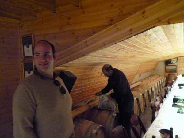 Gabriel Geller and Tura Mashgiach in Tura Winery