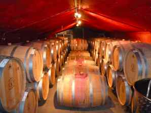Tura Winery Barrel Room