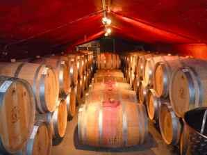 Tura Winery Barrel Room