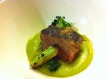 Waygu Short Rib, Broccoli Stem, Broccoli, Puree, Charred Broccoli Florets AKA Broccoli 3X (ways)