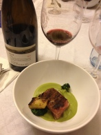 Waygu Short Rib, Broccoli Stem, Broccoli, Puree, Charred Broccoli Florets and 2006 Galil Meron
