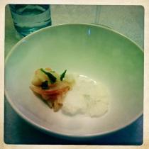Kampachi, Thai Chili and Basil Ice