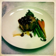 Smoked Veal Loin, Red Pepper Mostarda, Charred Broccolini 2