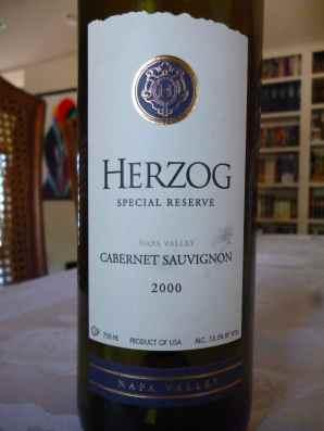 2000 Herzog Cabernet Sauvignon, Special Reserve, Napa Valley