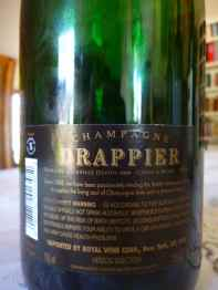N.V. Champagne Drappier, Carte D'Or, Brut - back label