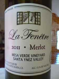 2011 La Fenetre Merlot, Mesa Verde Vineyard