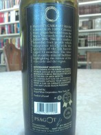 2010 Psagot Cabernet Franc - back label