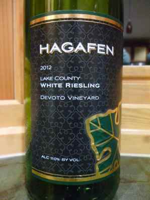 2012 Hagafen White Riesling, Devoto Vineyard, Lake County