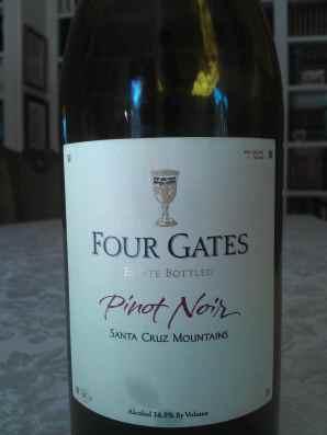 N.V. (2006 & 2007 blend) Four gates Pinot Noir