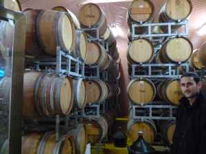 Tulip Winery Barrel Room