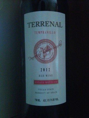 2012 Terrenal Tempranillo