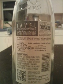 2012 Vignobles David Tavel Rose - back label