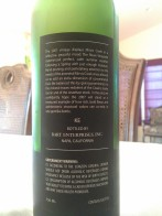 2007 Mirvis Creek Cabernet Sauvignon, Cuvee Yitz - back label