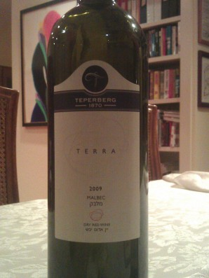 2009 Teperberg Malbec, Terra