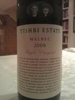 2009 Tishbi Malbec, Estate
