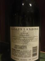 2012 Eagles landing Syrah - back label