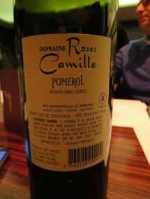 2005 Domaine Roses Camille - back label