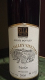 Ella Valley Merlot and a not so good kosher Malbec