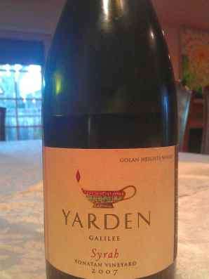 2007 Yarden Syrah, Yonatan Vineyard
