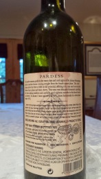 2007 Hevron Height Pardess - back label