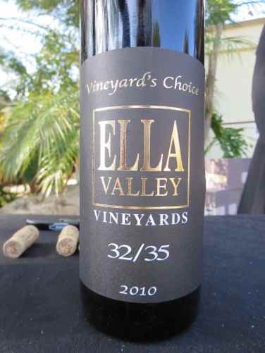 2010 Ella Valley 35:25, Vineyard's Choice
