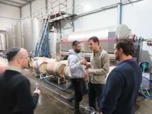 Eran Pick, Nicolas Daniel Ranson and Christophe Bardeau - barrel tasting at Tzora Winery