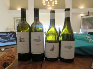 Four Tzora wines we tasted at the winery