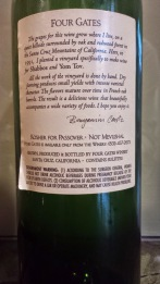 2003 Four Gates Cabernet Franc - back label